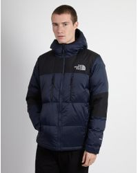 The North Face - Himalayan Light Down Hoodie Navy & Black - Lyst