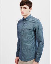 Vito - Glam Lay Shirt Blue - Lyst