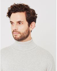 Vito - Matt Knit Roll Neck Light Grey - Lyst