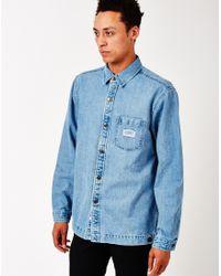 The Hundreds - Settle Denim Shirt Blue - Lyst