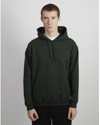 The Idle Man - Classic Overhead Hoodie Forest Green - Lyst