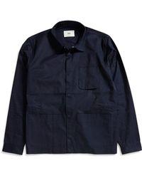 Folk - Painters Jacket Navy - Lyst