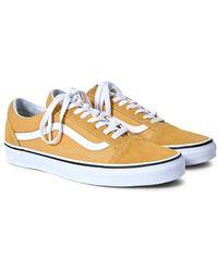 Vans - Old Skool Trainers Yellow - Lyst