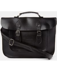 The Idle Man - Leather-look Satchel Black - Lyst