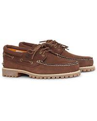 Timberland - Authentics 3 Eye Classic Shoe Dark Brown - Lyst