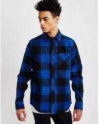 The Hundreds - Highland Long Sleeve Flannel Shirt Blue - Lyst