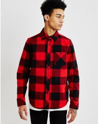 The Hundreds - Highland Long Sleeve Flannel Shirt Red - Lyst