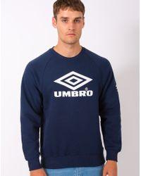 Umbro - Pro Training Classic Crew Sweatshirt Navy - Lyst