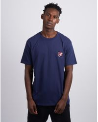 The Idle Man - Born Idle Deck Chair Chest Embroidered T-shirt Dark Navy - Lyst