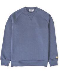 Carhartt WIP - Chase Sweatshirt Blue - Lyst