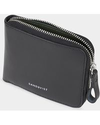 Sandqvist - Tyko Leather Zip Wallet Black - Black - Lyst