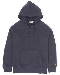 Carhartt WIP - Hooded Chase Sweatshirt Navy - Lyst