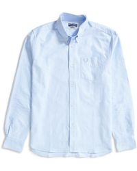 Fred Perry - Long Sleeve Heavy Oxford Shirt Light Blue - Lyst