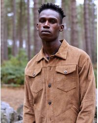 The Idle Man - Cord Worker Jacket Tan - Lyst