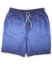 The Idle Man - Acid Wash Jersey Short Navy - Lyst