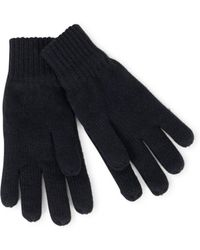 The Idle Man - Knitted Thinsulate Gloves Black - Lyst