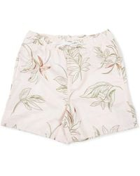 The Idle Man - Floral Print Swimshort Pink - Lyst