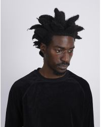 The Idle Man - Velvet Crew Sweatshirt Black - Lyst