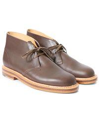 Clarks - Welt Leather Desert Boot Dark Brown - Lyst