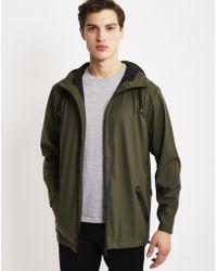 Rains - Breaker Jacket Green - Lyst