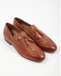 87ad4a23ae7 Lyst - Hudson Jeans Ramos Brown Suede Slip On Shoes in Brown for Men