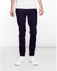 Farah - Drake Soft Stretch Rinse Jeans Navy - Lyst