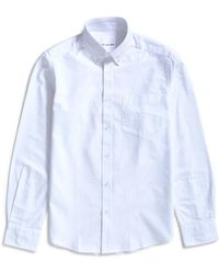 The Idle Man - Regular Slim Fit Oxford Shirt White - Lyst