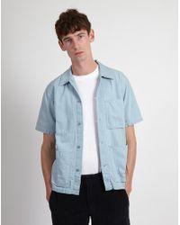 Nudie Jeans - Svante Shirt Light Blue - Lyst