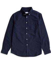 Saturdays NYC - Crosby Oxford Shirt Navy - Lyst