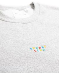 The Idle Man - Sunday Club Embroidered Sweatshirt Grey - Lyst