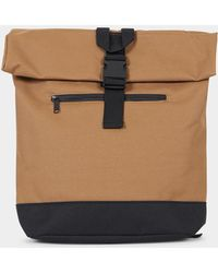 The Idle Man - Roll Top Back Pack Caramel - Lyst