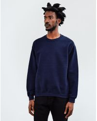 The Idle Man - Classic Sweatshirt Navy - Lyst