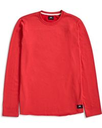 Edwin - Cotton Terry T-shirt Red - Lyst