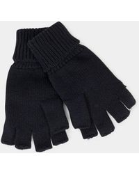 The Idle Man - Flip Top Gloves Black - Lyst