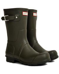 HUNTER - Original Short Rain Boot Green - Lyst