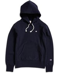 Champion - Classic Reverse Weave Hoodie Navy - Lyst