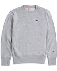 Champion - Classic Reverse Weave Sweatshirt Grey - Lyst