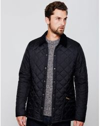 Barbour - Heritage Liddesdale Quilted Jacket Black - Lyst