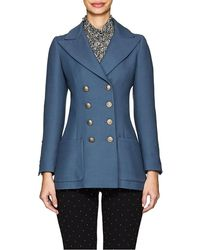 Philosophy - Twill Double-breasted Blazer - Lyst