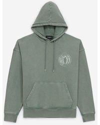 The Kooples Faded Green Sweatshirt With Hood