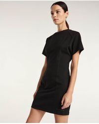 The Kooples T-Shirt-Kleid Baumwolle schwarz Gummilogo