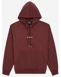 The Kooples Bordeauxrode Sweater Met Capuchon En Logo - Rood