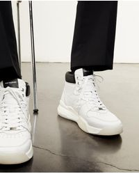 The Kooples Leather White Trainers W/contrasting Detail - Multicolour