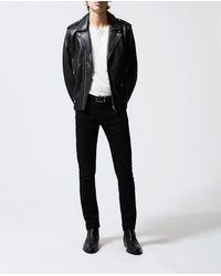 The Kooples Effen Zwarte Jeans Van Katoen Slim Fit