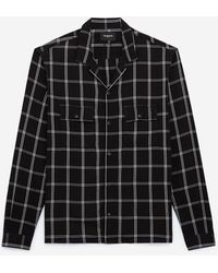 The Kooples Flowing Black And White Shirt With Motif