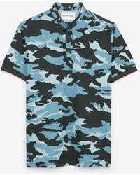 The Kooples Katoenen Polo Camouflageprint Officierskraag - Meerkleurig