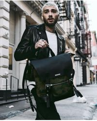 The Kooples - Graphic Camouflage Leather Backpack Zayn By - Lyst