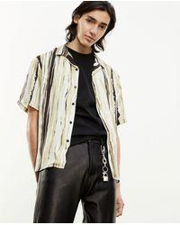 The Kooples Black & Yellow Hawaiian-collar Shirt - Multicolor