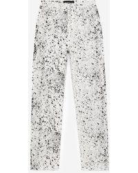 The Kooples Zwarte Jeans Met Knopen En Wit Geverfd Effect - Meerkleurig