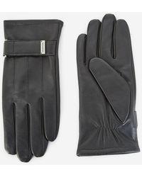 The Kooples Zwarte Lederen Handschoenen Met Bandje